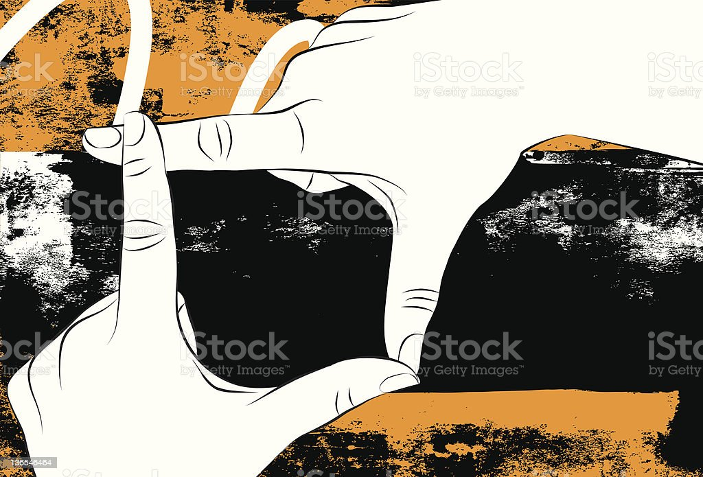 finger frame royalty-free stock vector art