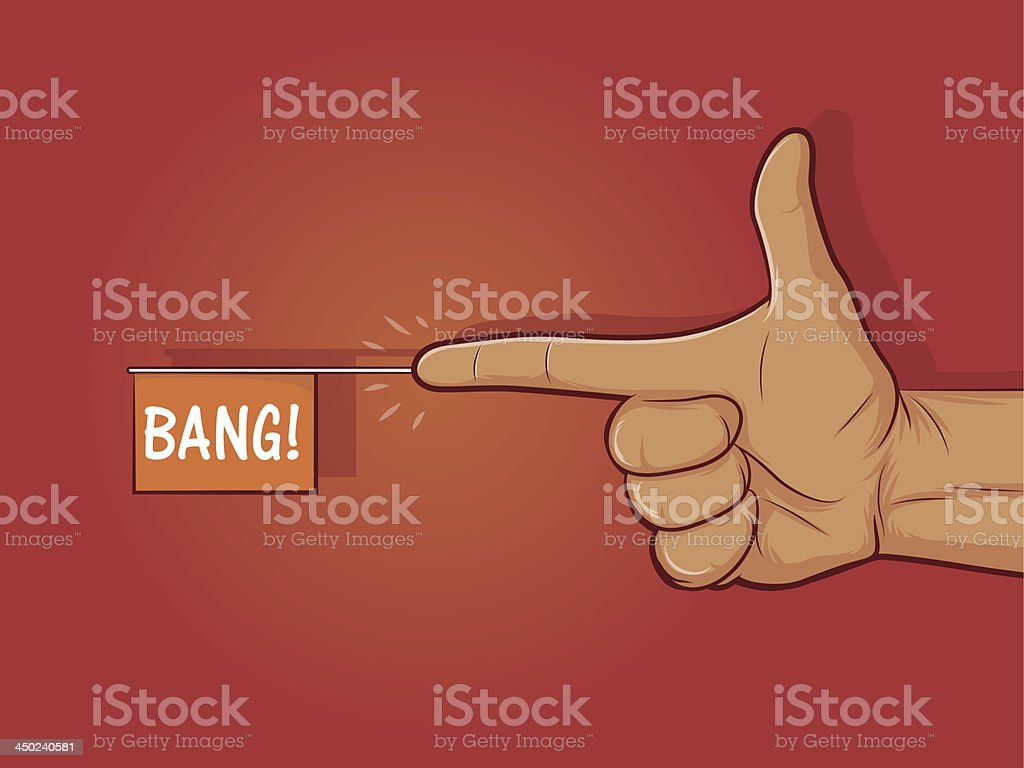 Finger Gun royalty-free stock vector art