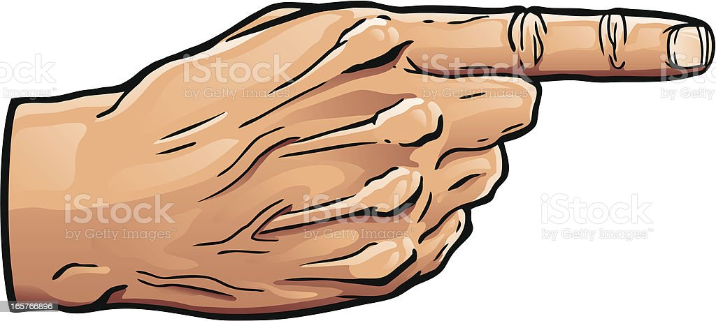 Finger Point Hand vector art illustration