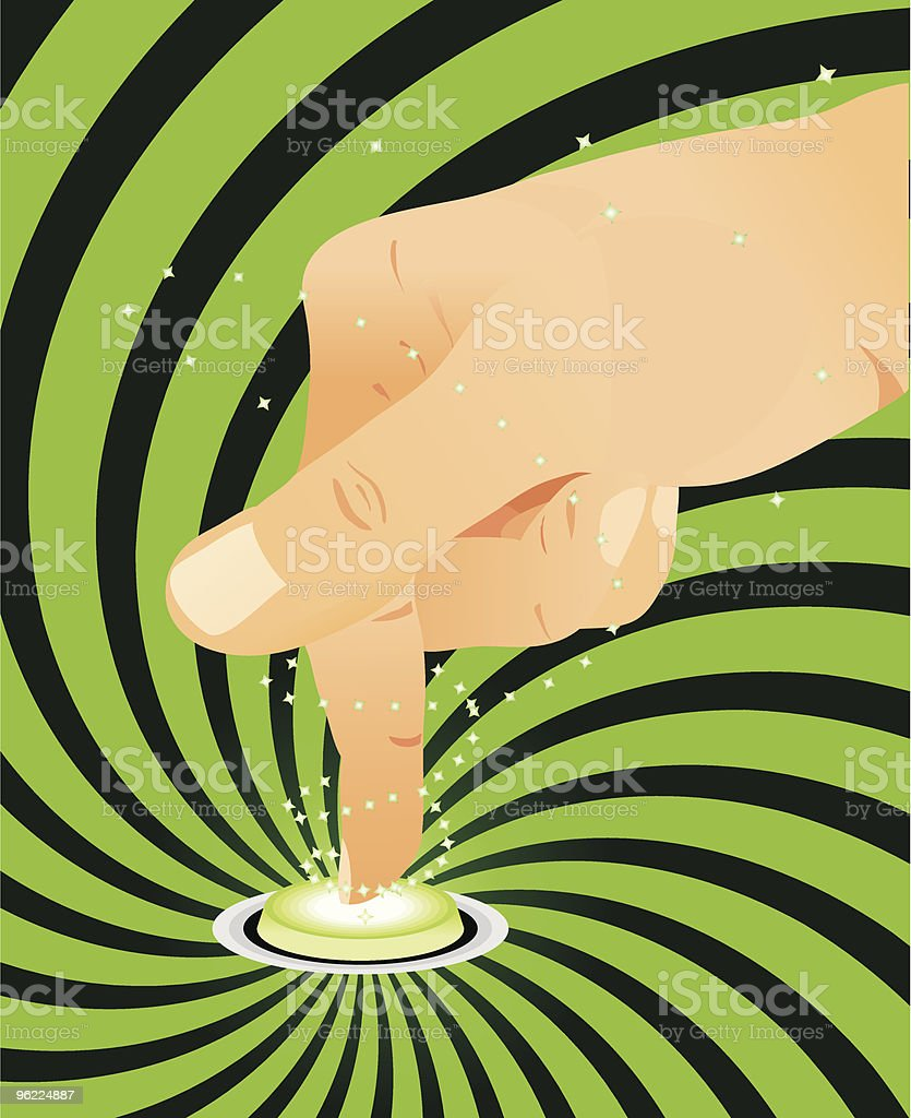 Finger pressing on button royalty-free stock vector art