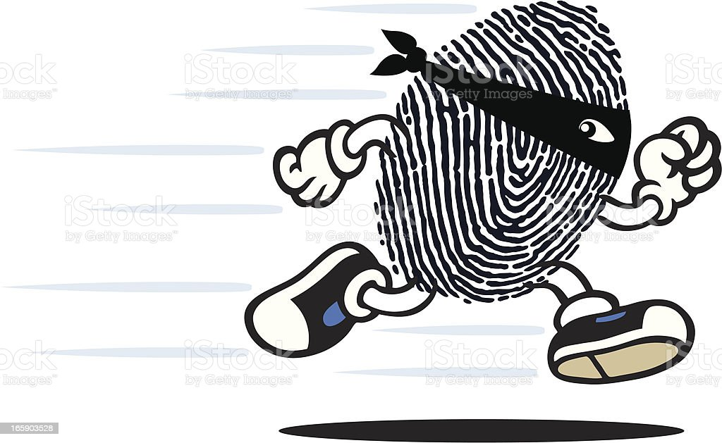 Finger Print Guy royalty-free stock vector art