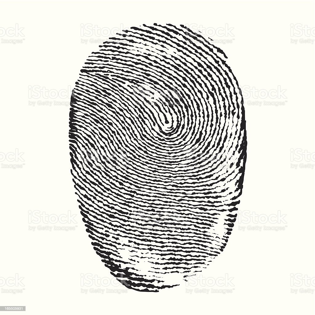 finger print royalty-free stock vector art