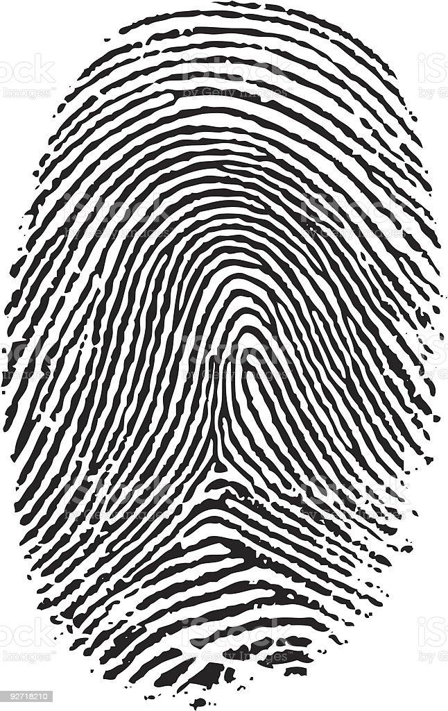 Finger print. royalty-free stock vector art