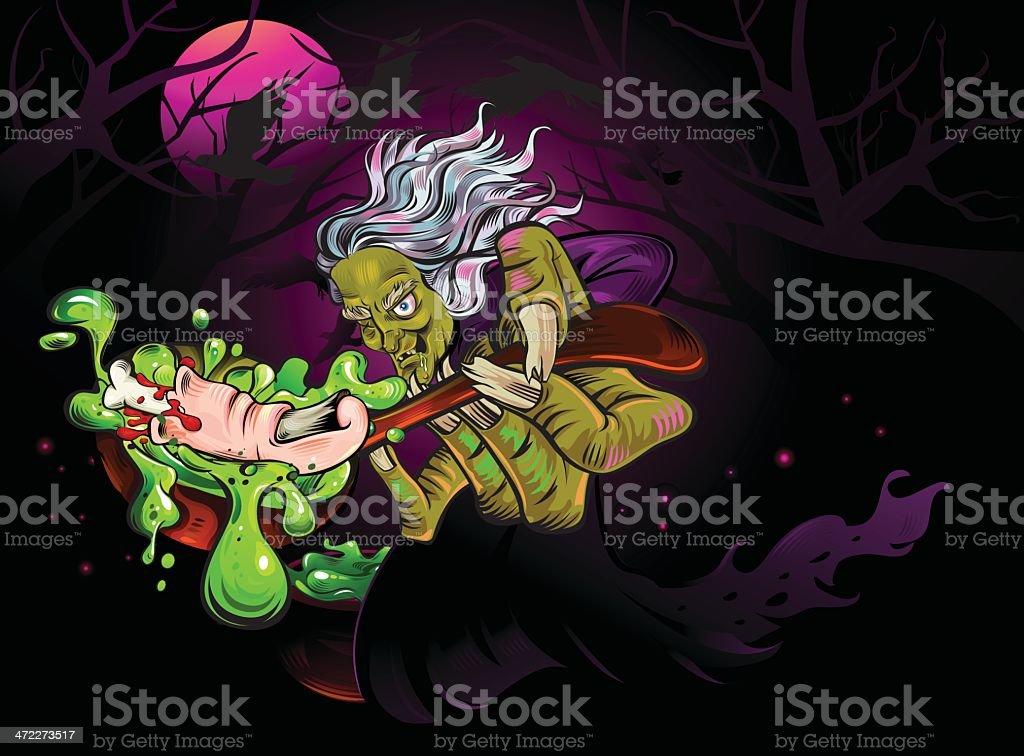 Finger Soup vector art illustration