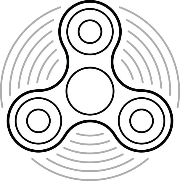 Fidget spinner clip art vector images illustrations for Fidget spinner coloring pages