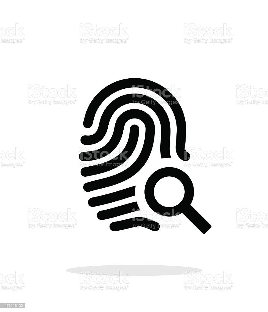 Fingerprint and thumbprint icon on white background vector art illustration