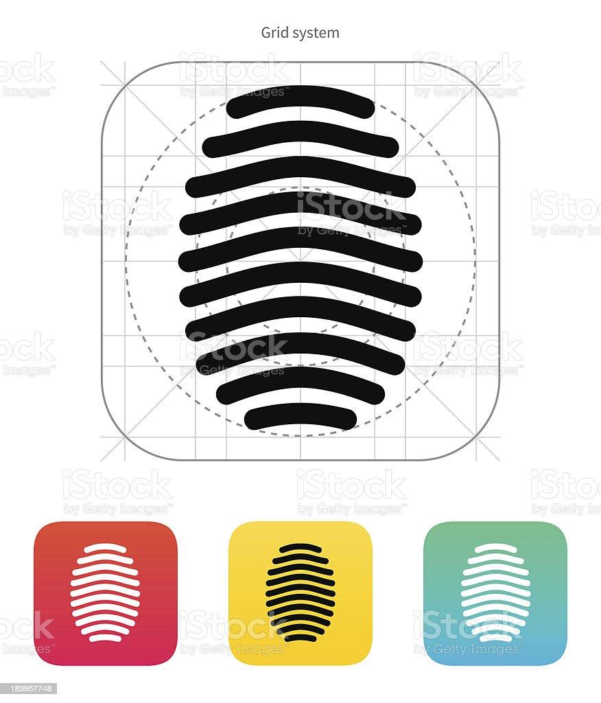 Fingerprint arch type icon. royalty-free stock vector art