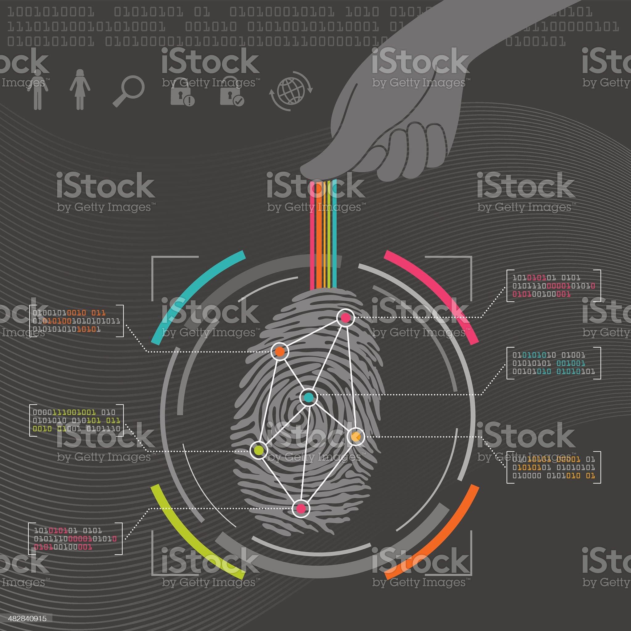 Fingerprint Biometrics royalty-free stock vector art