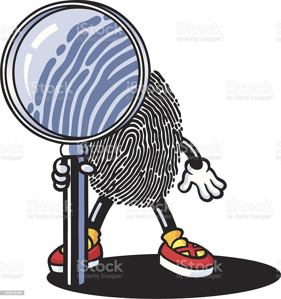 Fingerprint Guy vector art illustration