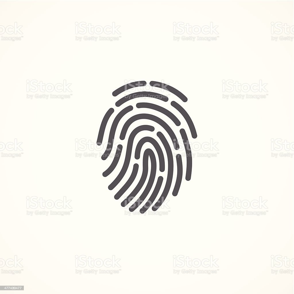 Fingerprint icon vector art illustration