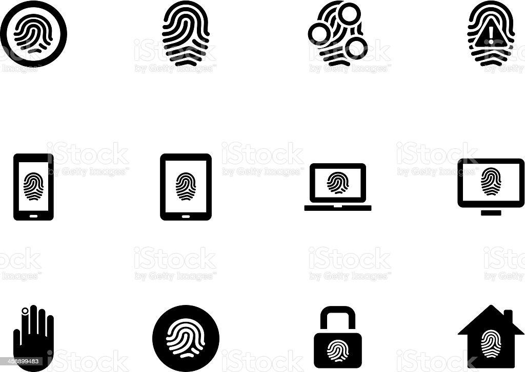 Fingerprint icons on white background. royalty-free stock vector art
