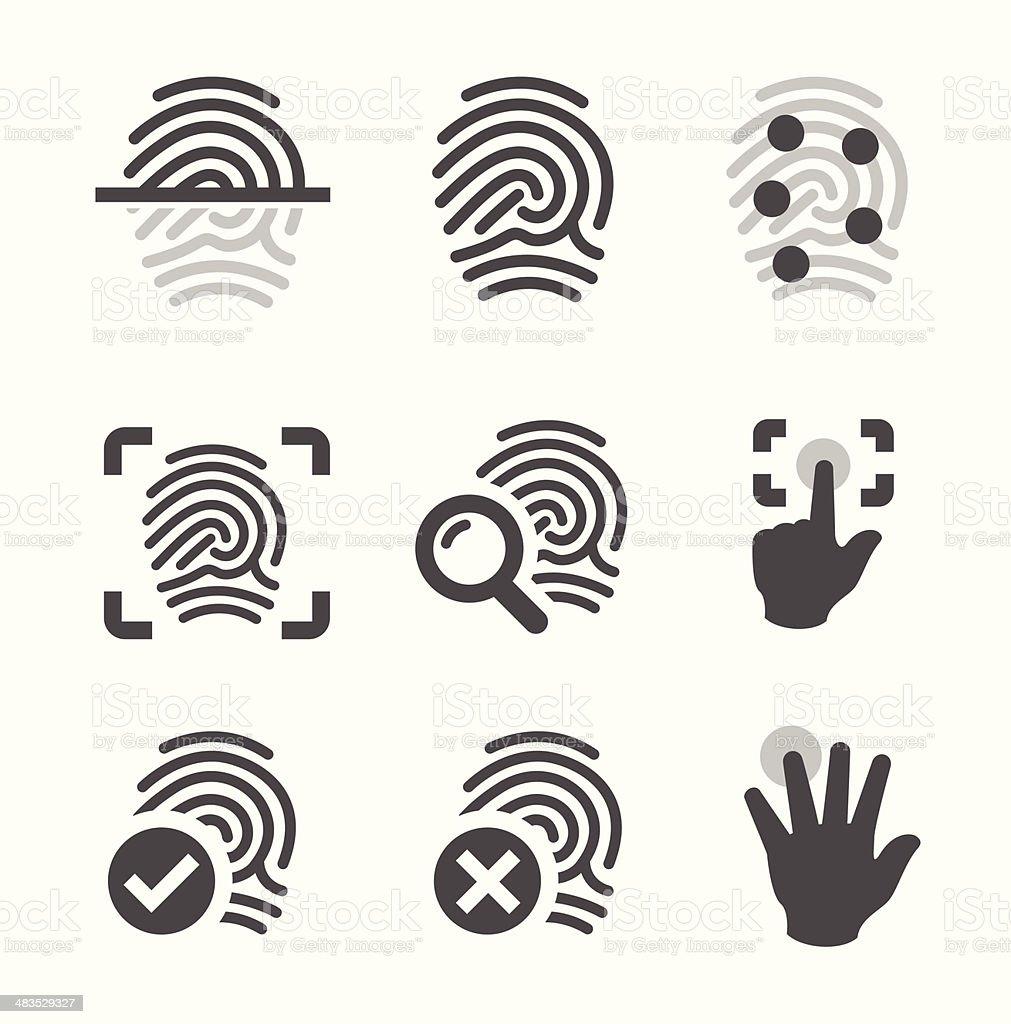Fingerprint icons royalty-free stock vector art