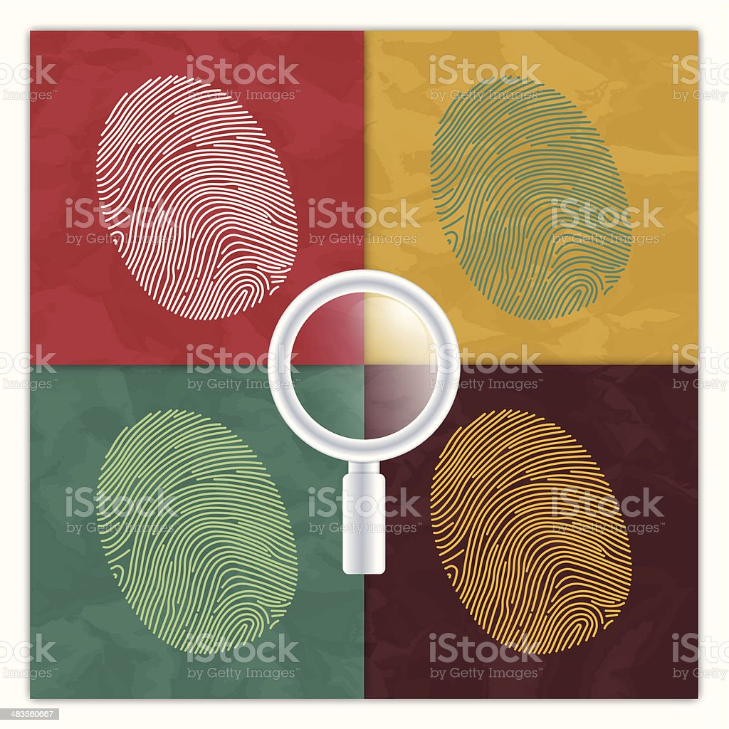 Fingerprint Identity Concept royalty-free stock vector art
