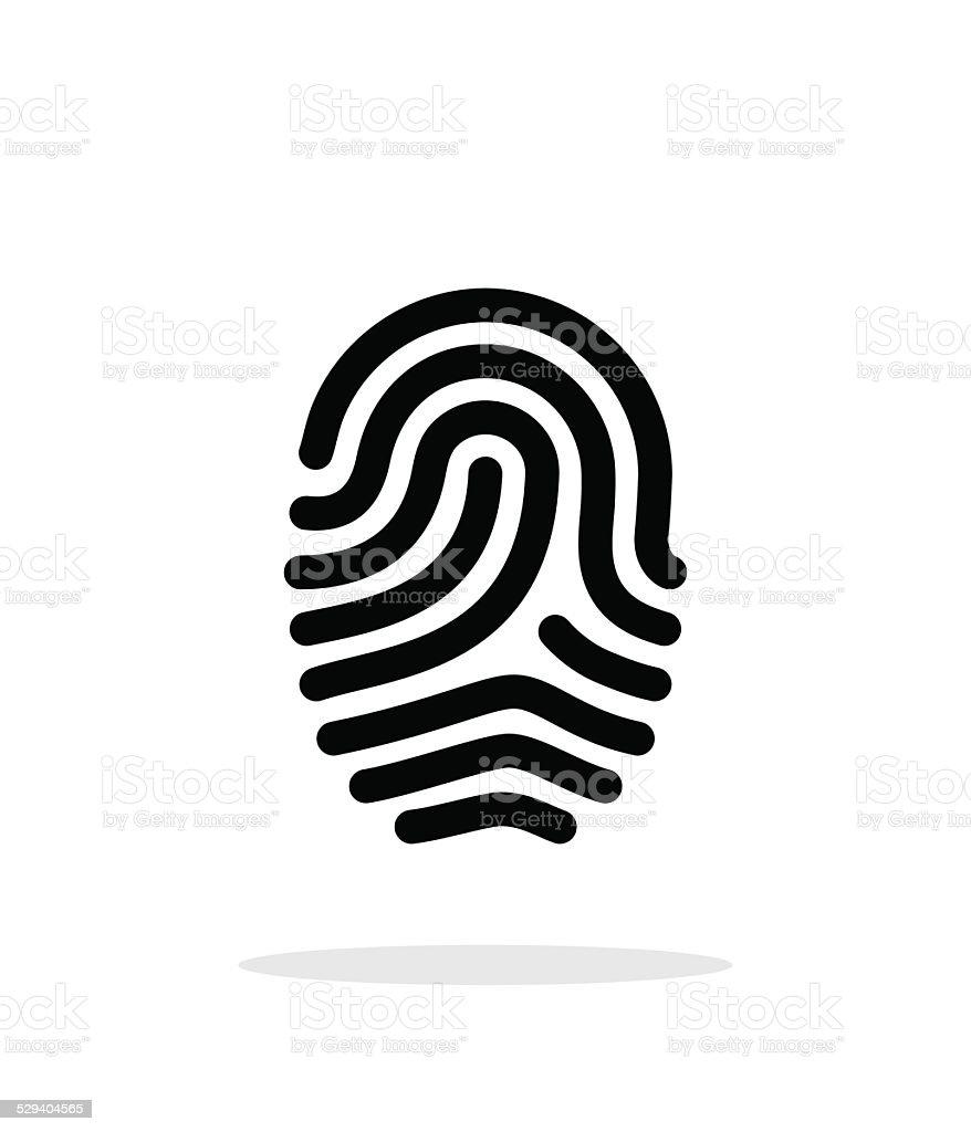 Fingerprint loop type icon on white background. vector art illustration