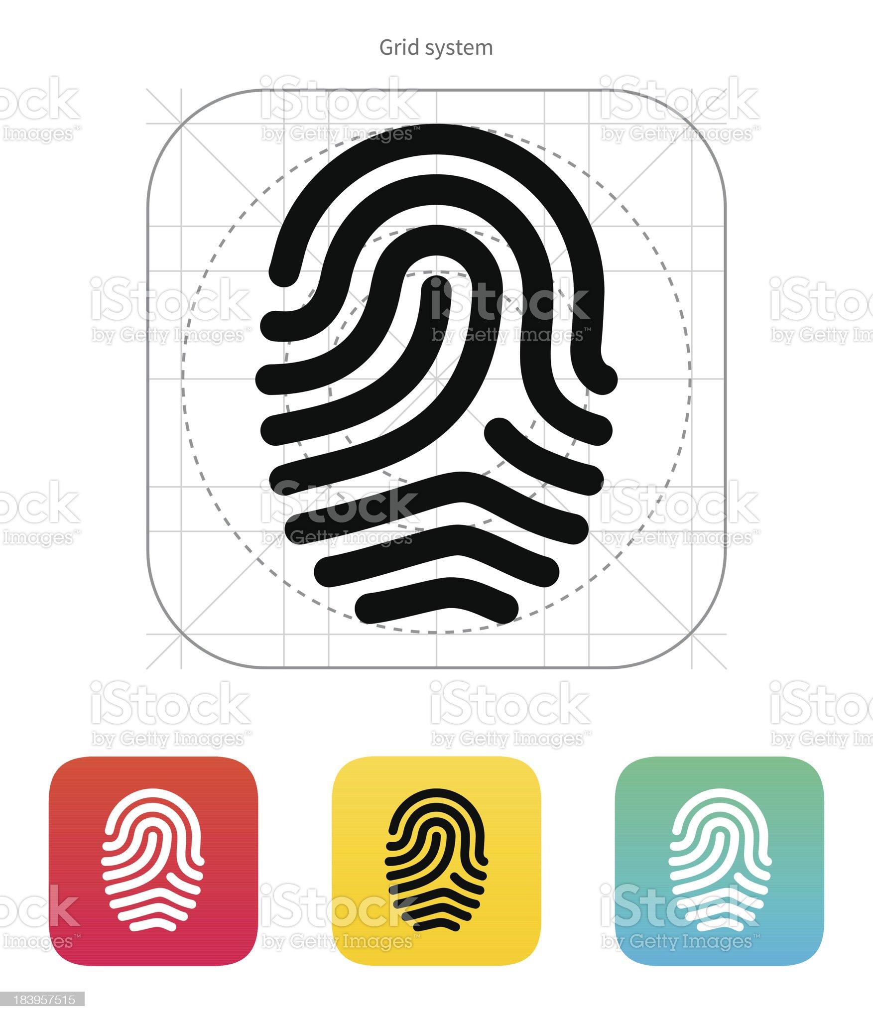 Fingerprint loop type icon. royalty-free stock vector art
