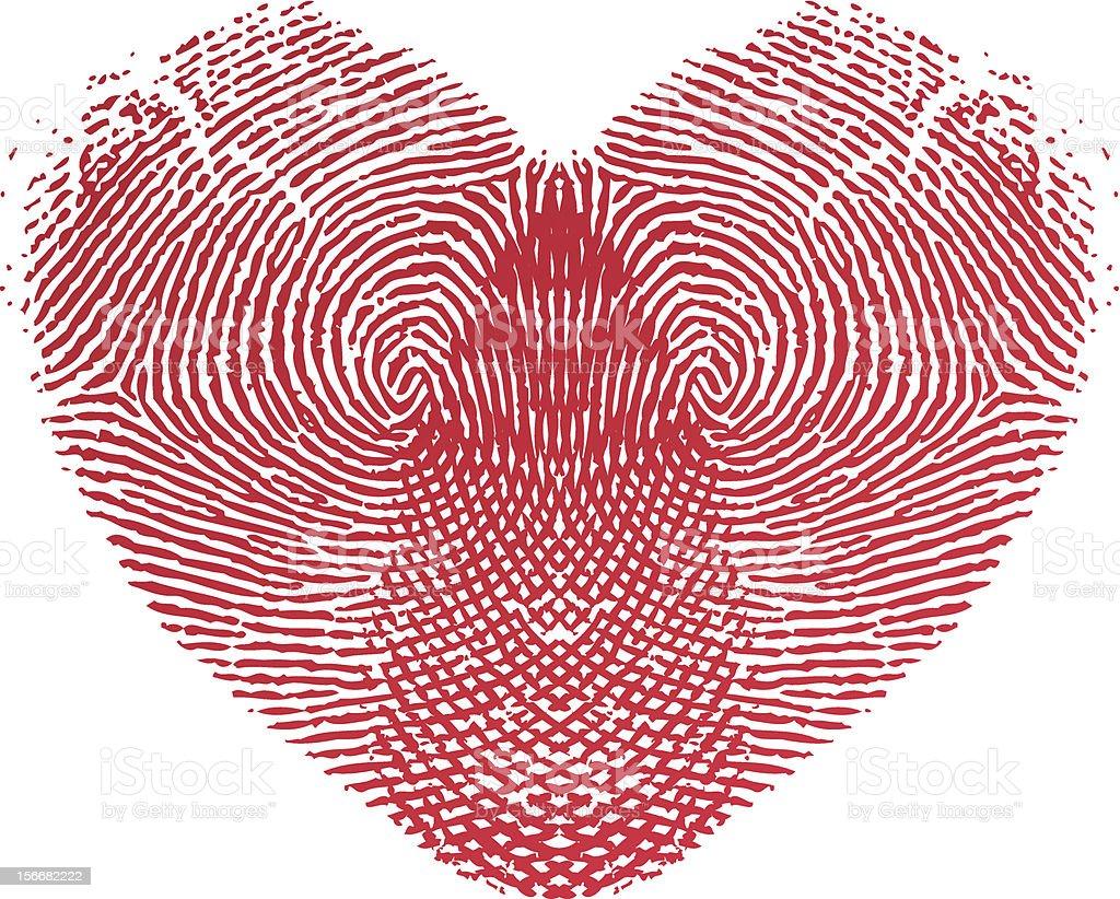 Fingerprint Love Heart royalty-free stock vector art