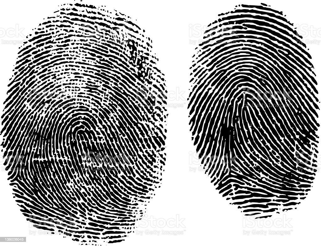 Fingerprint Mystery royalty-free stock vector art