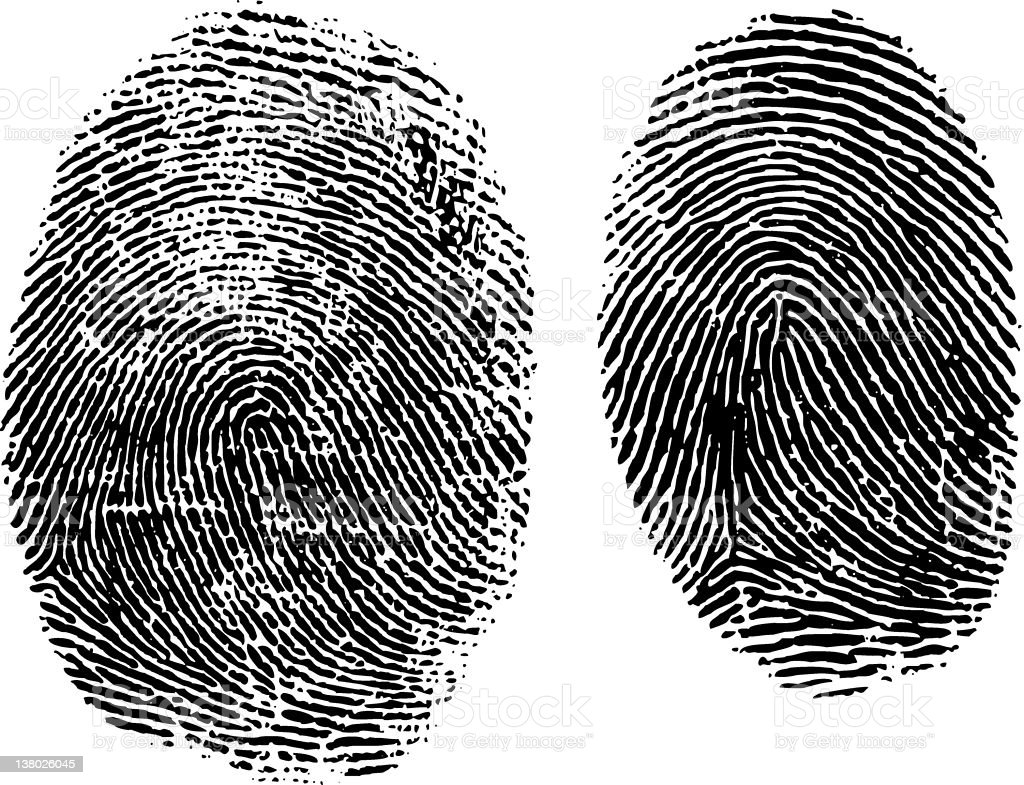 Fingerprint Mystery vector art illustration