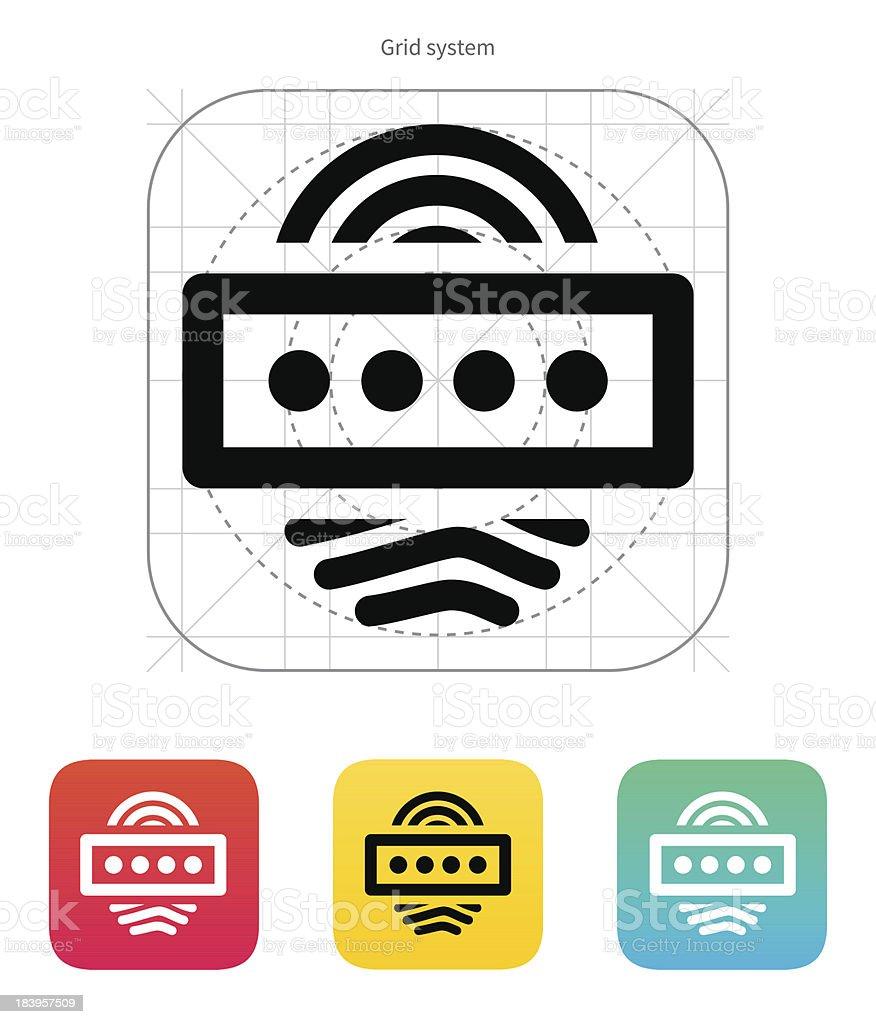 Fingerprint password icon. royalty-free stock vector art