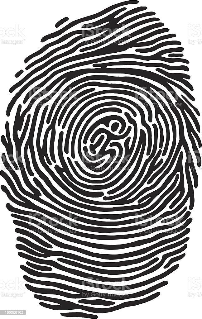 Fingerprint Runner vector art illustration