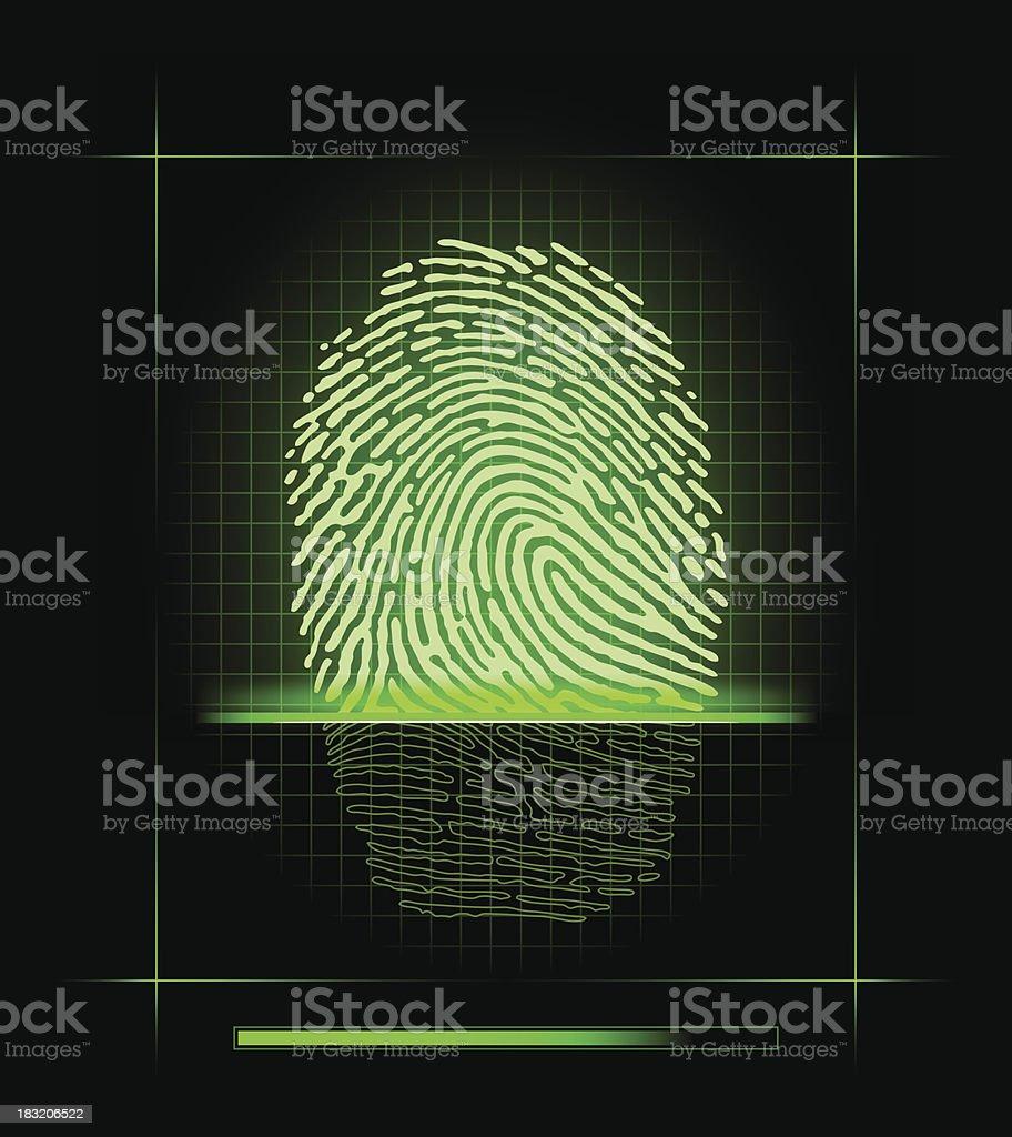 Fingerprint scanner royalty-free stock vector art