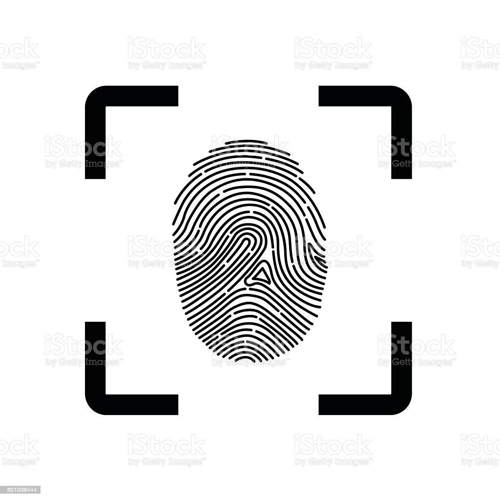 Fingerprint Scope vector art illustration