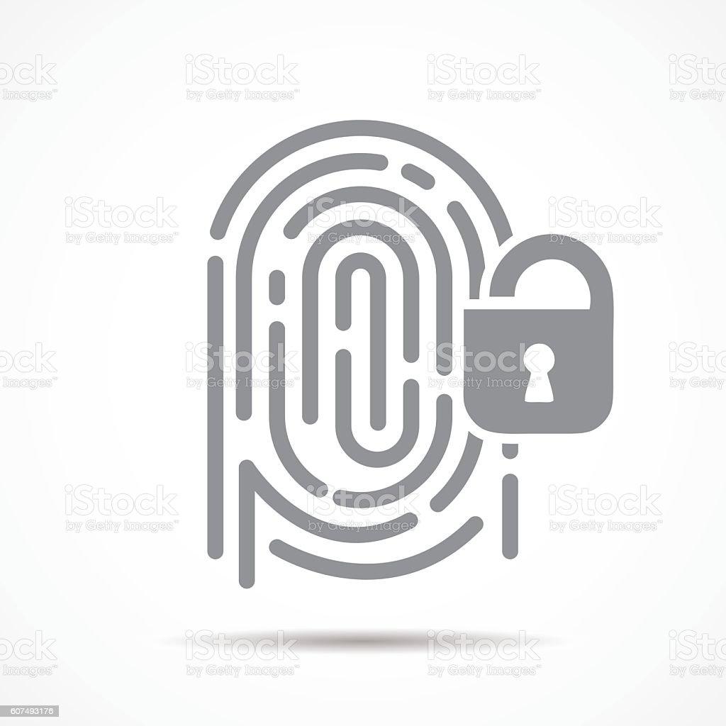 fingerprint security vector art illustration