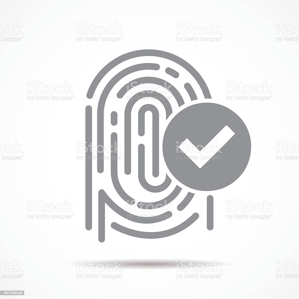 fingerprint security vector art illustration