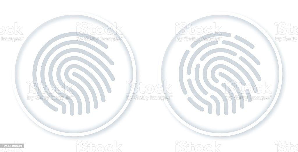Fingerprint Symbols vector art illustration
