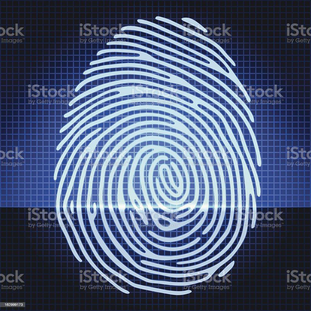 fingerprint royalty-free stock vector art