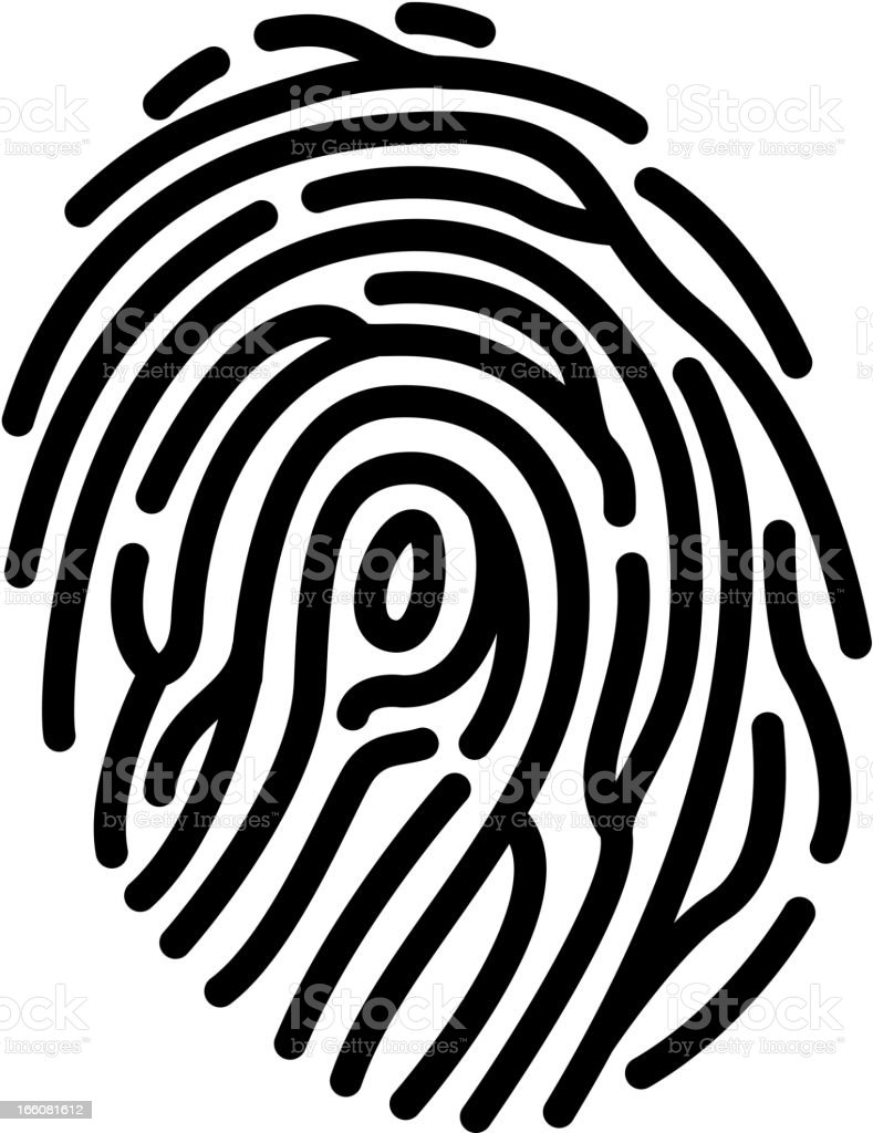 Fingerprint royalty-free stock vector art