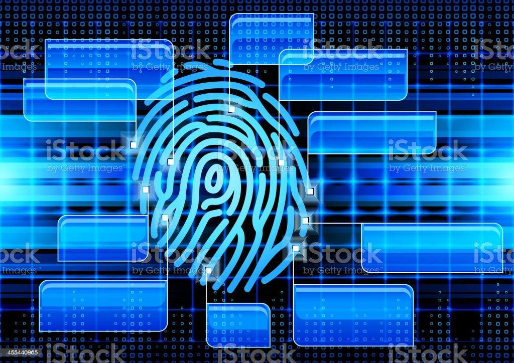 fingerprint vector art illustration