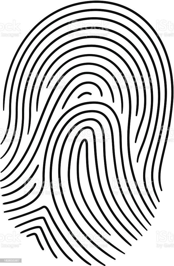 Fingerprint - Vector illustration royalty-free stock vector art