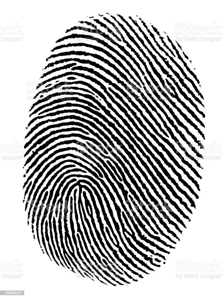 Fingerprint Vector vector art illustration