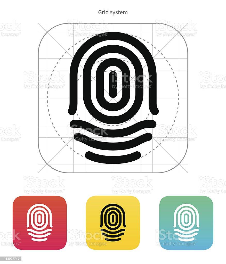 Fingerprint whorl type icon. royalty-free stock vector art
