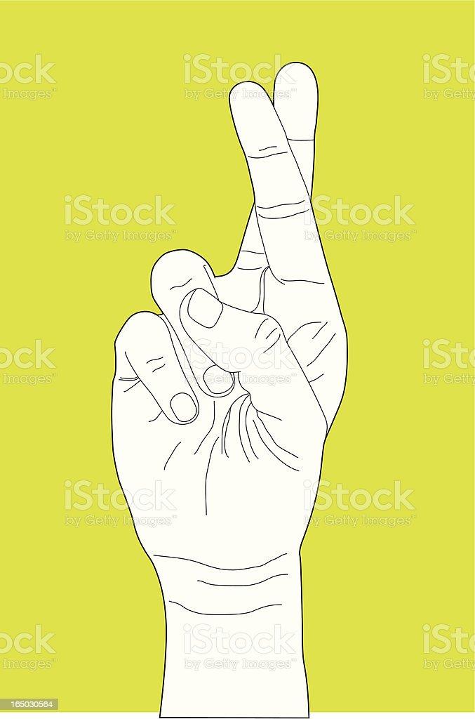 Fingers Crossed Hand Gesture royalty-free stock vector art
