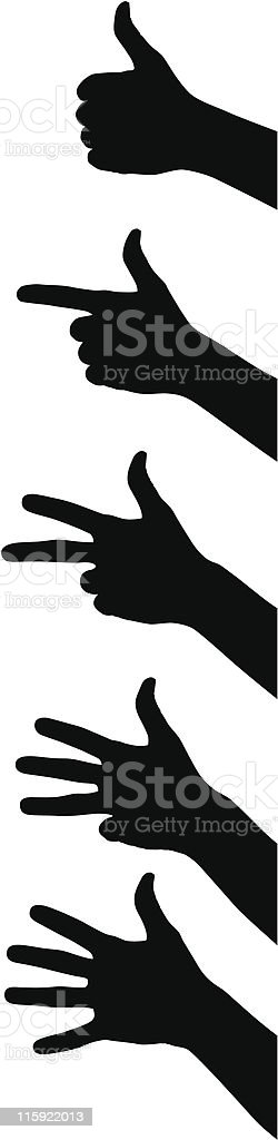 fingers vector art illustration