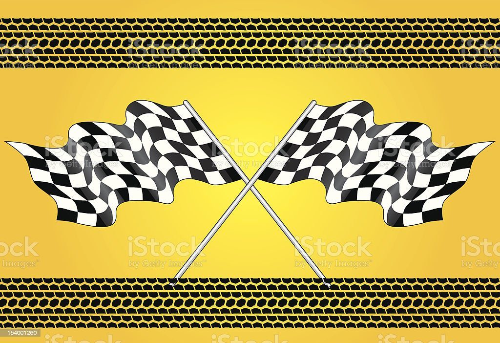 finish flag royalty-free stock vector art