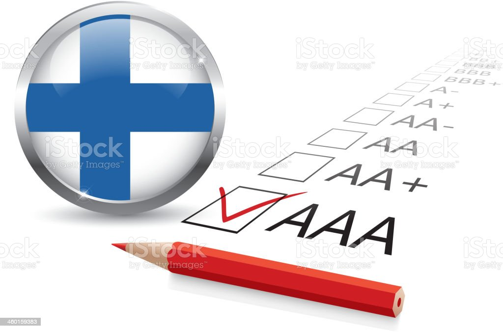 Finland credit rating royalty-free stock vector art
