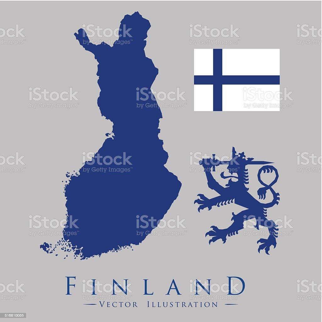 finland design vector art illustration