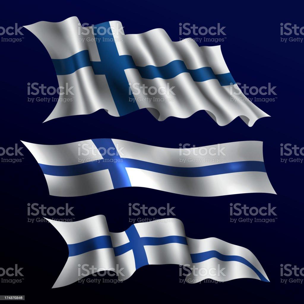 Finland, Finnish Flag royalty-free stock vector art