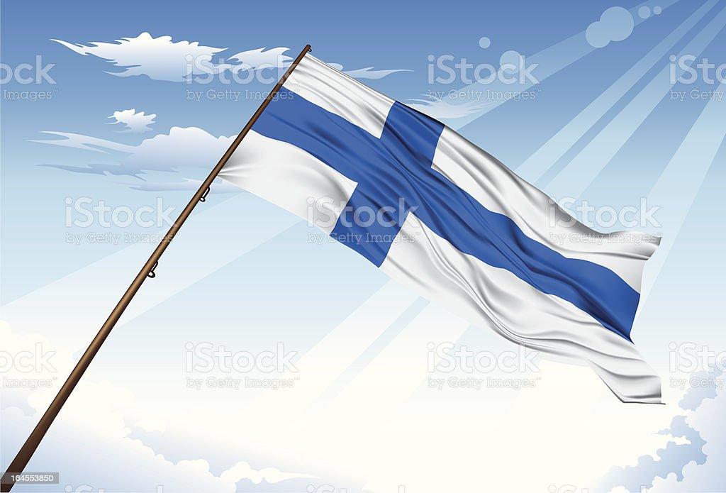 Finland flag royalty-free stock vector art