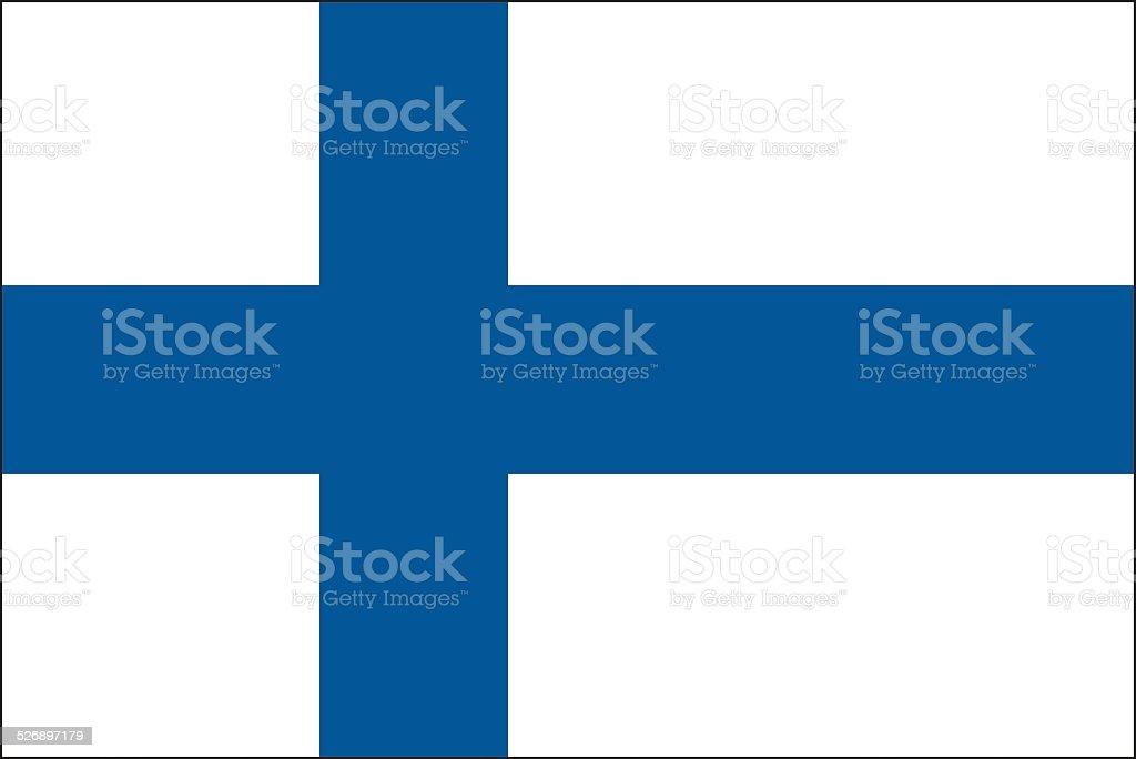 Finland flag vector art illustration