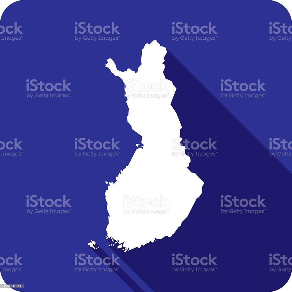 Finland Icon Silhouette vector art illustration