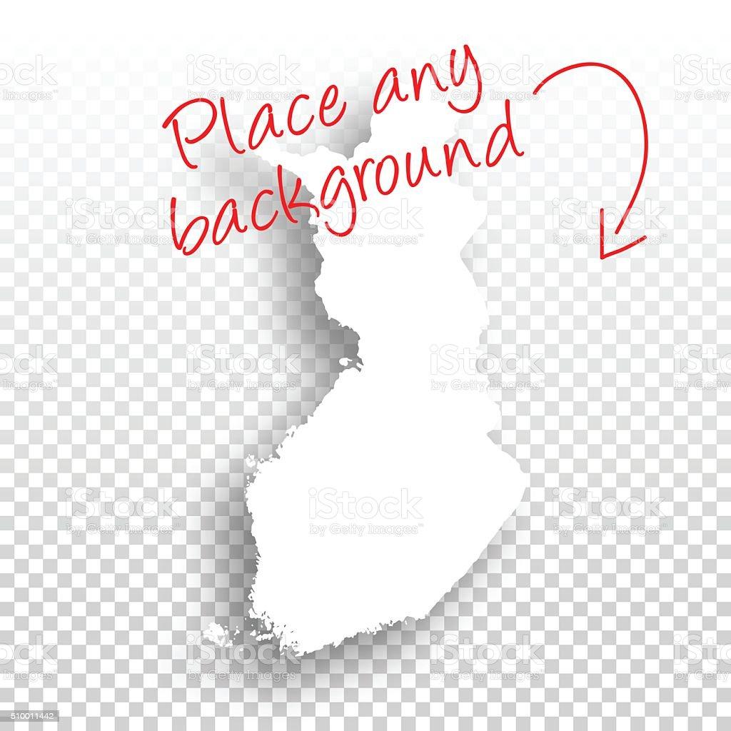 Finland Map for design - Blank Background vector art illustration