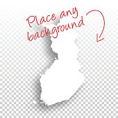 Finland Map for design - Blank Background