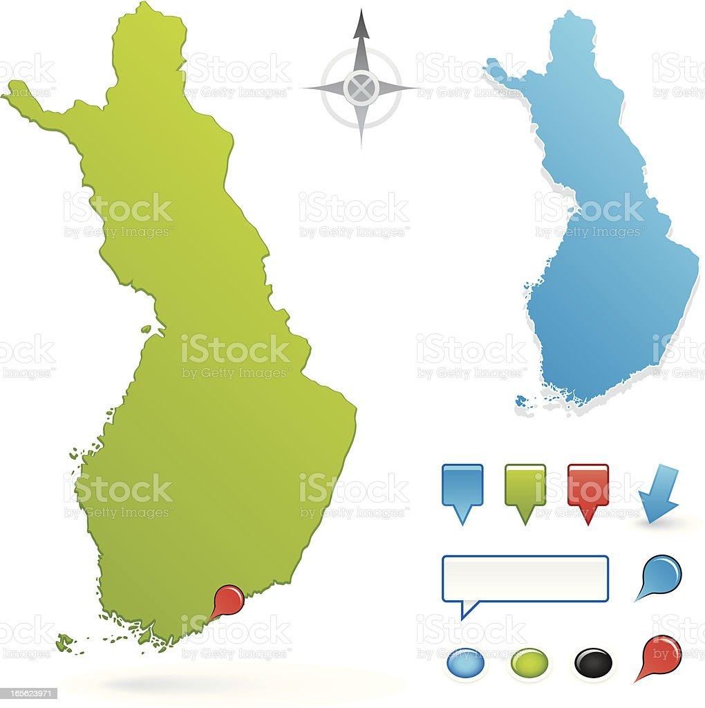 Finland map royalty-free stock vector art