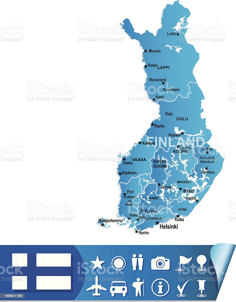 Finland map royalty-free stock vector art