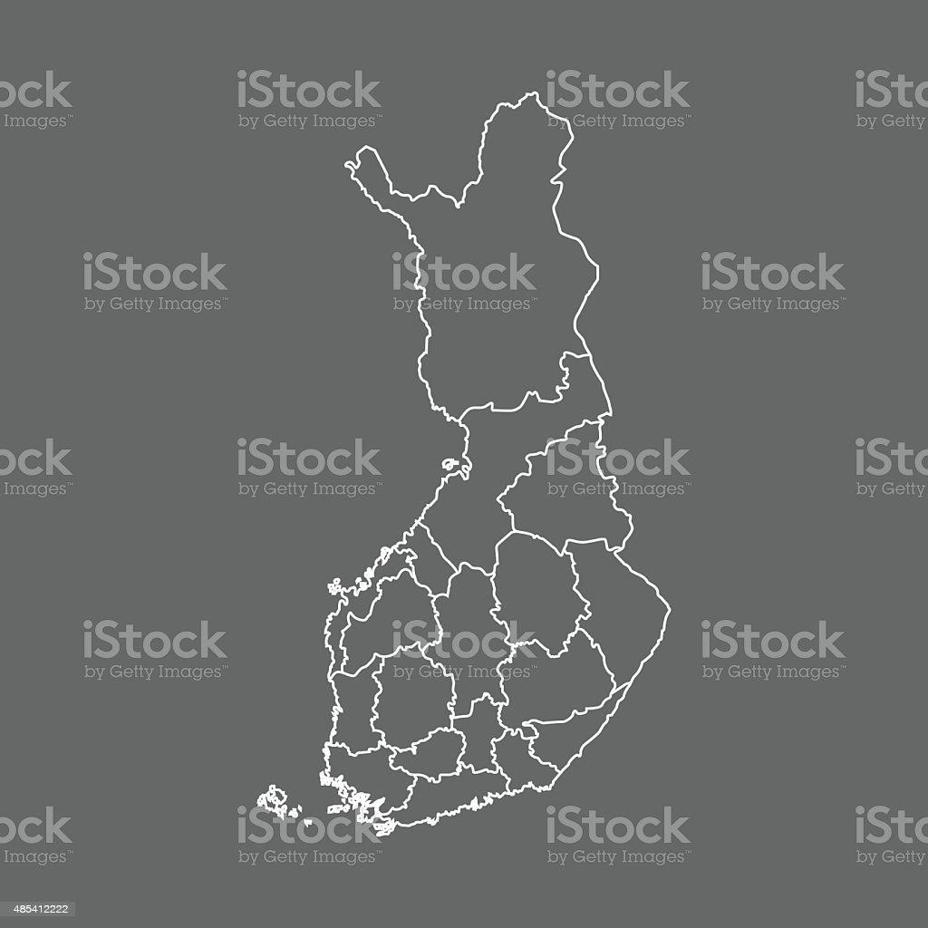 Finland Map vector art illustration