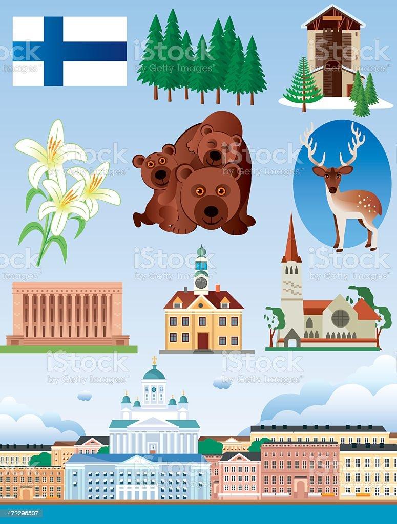 Finland Symbols royalty-free stock vector art